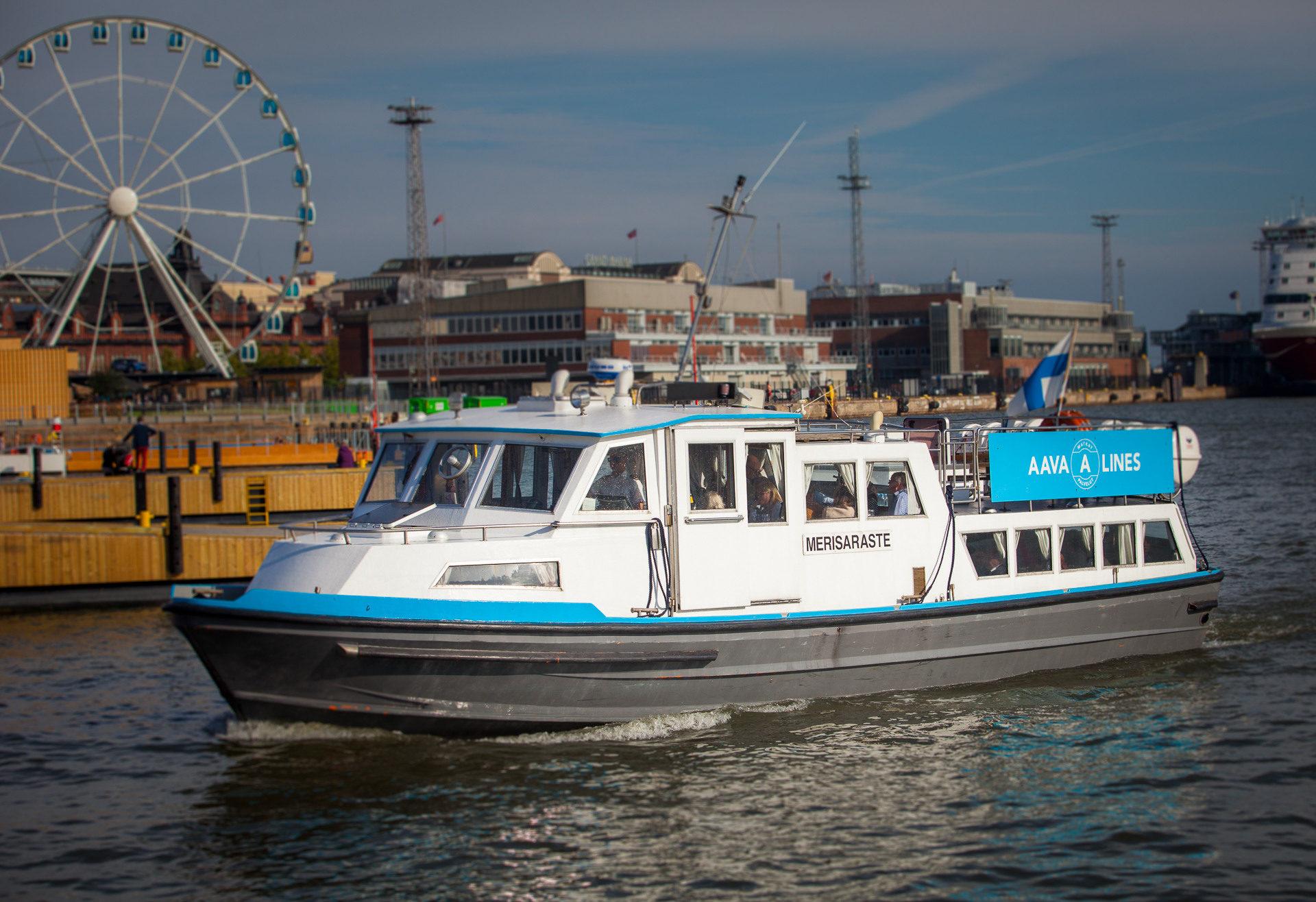 Return transport to Helsinki islands/ restaurants for 1-50 people