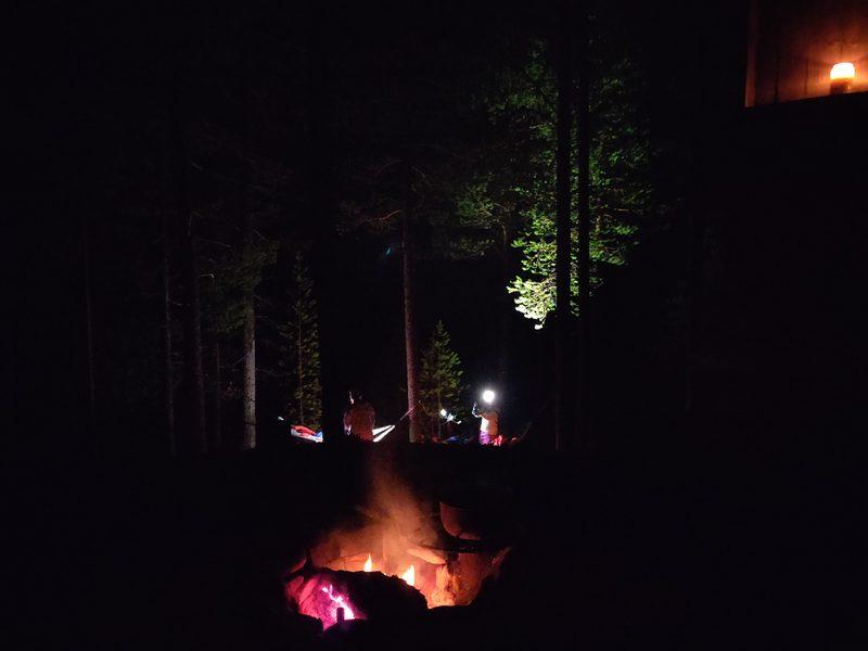Night in a hammock