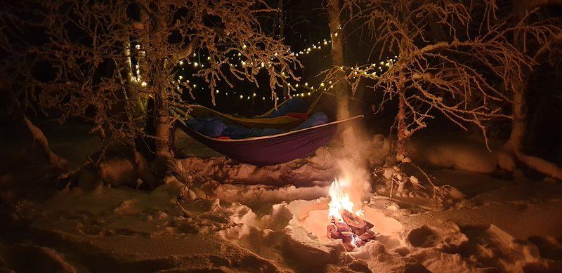 Talviyö riippumatossa nautiskelijoille ja aloittelijoille