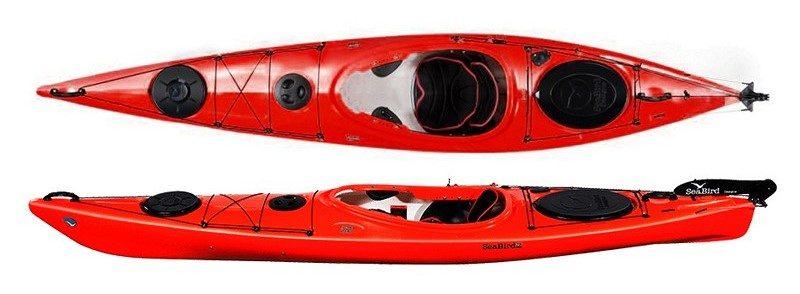 Seabird Expedition Åfjord Pro - Seabird Expedition Åfjord Pro, 4 kpl, kajakit numero 1,2,3,4. Kuvasta poiketen vuokrakajakkien väri keltainen