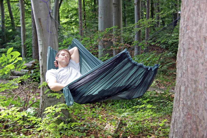 Amazonas Moskito-Traveller - Jos et tarvitse hyttysverkkoa, käännä se maata vasten ja makaa pohjan päällä.