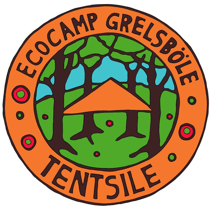 Logo  - Tentsile Experience Grelsböle logo. Taiteilija Pive Toivosen suunnittelema ja maalaama