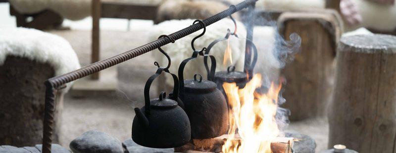 Nokipannukahvit Sarvikodassa - Nokipannukahvia ja lettujen paistoa Sarvikodassa