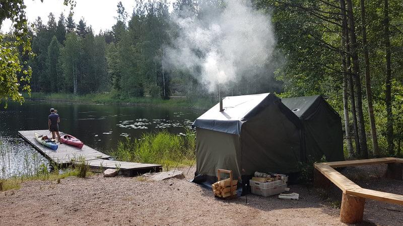 Kuutinkanavan kesälauantain telttasaunapalvelu