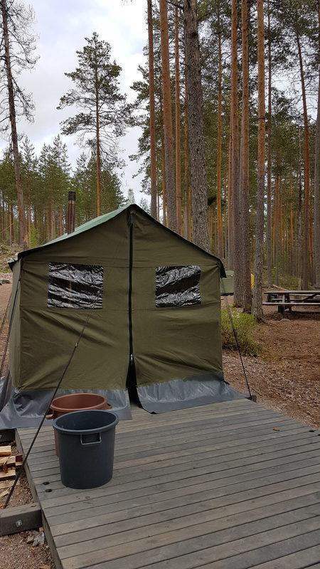 Telttasaunavuokraus Valkjärven varausleirialueelle (6-8 hlöä)