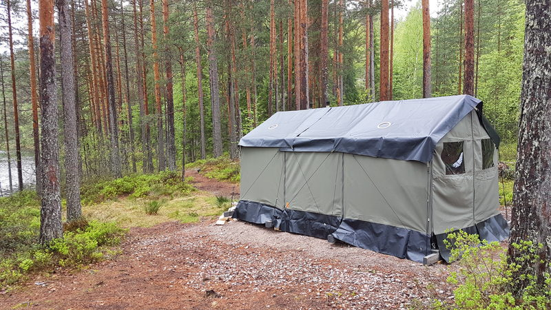 Telttasaunavuokraus Valkjärven varausleirialueelle (14-18 hlöä)