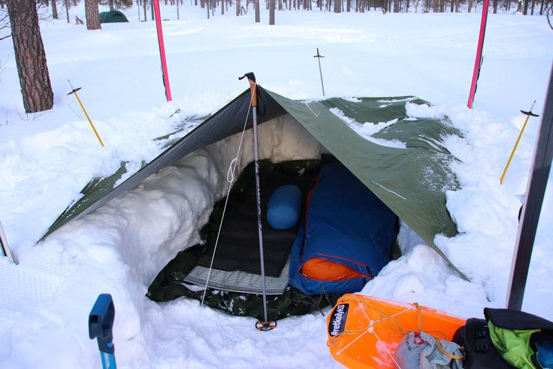 Yli yön talvivaelluskurssi Isojärvellä 18.-19.1.2020