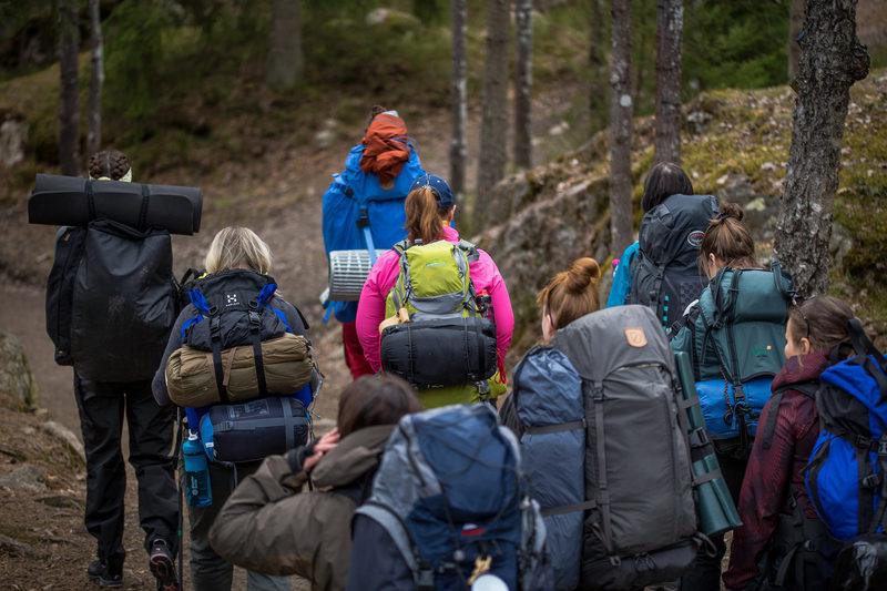 Poluttomat vaellukset - kurssi Lortikan kämpässä Isojärven kansallispuiston keskellä