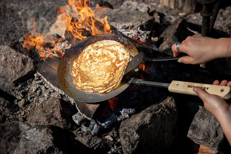 Campfire pancakes - plätty