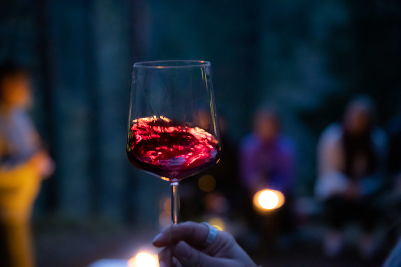 Wine in the Dark Woods