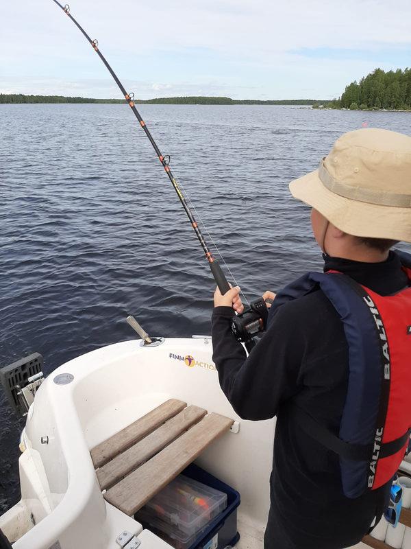 Boat fishing at Lake Oulujärvi