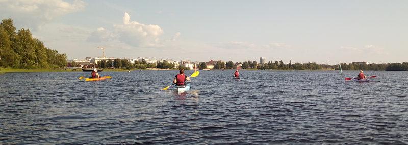 Kayaking safari to River Oulu delta