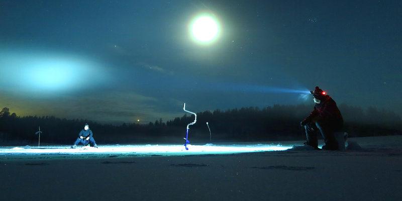 Yöllinen mateenpilkintä Uljualla