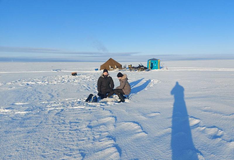 Ahvenen pilkintä Oulun merialueella