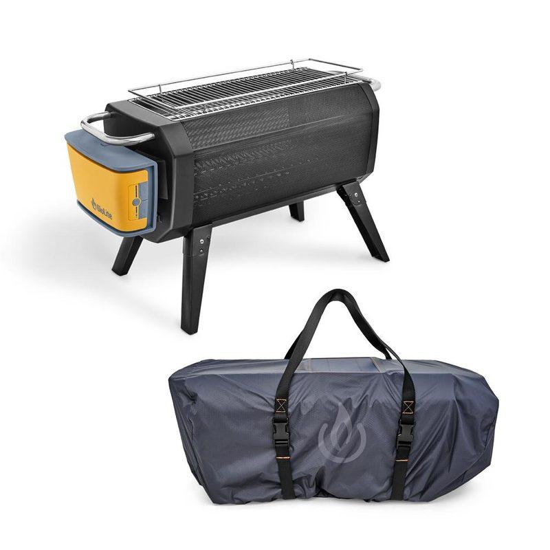 Kätevä vedenkestävä kantolaukku lisävarusteena suojaa.