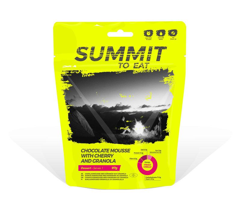 Summit To Eat - Kirsikka-suklaamousse ja granolaa