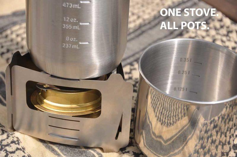 Bushcraft Essentials Bushbox Ultralight Stove + tuhkalevy