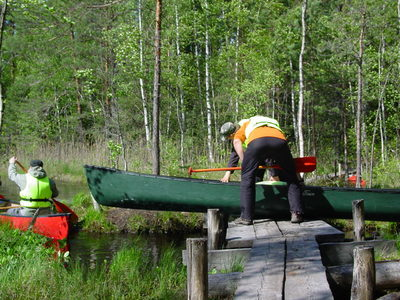 Canoeing in the heart of the Nuuksio National park