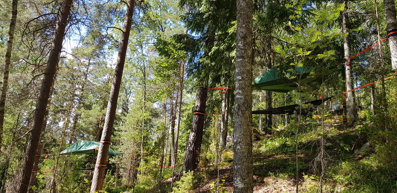 Tentsile Experience EcoCamp Nuuksio lahjakortti kesälle - Näkymä EcoCamp alue