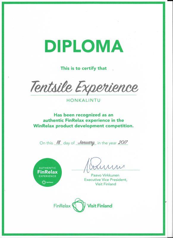Tentsile Experience EcoCamp Nuuksio lahjakortti  - Tentsile Experience Diploma