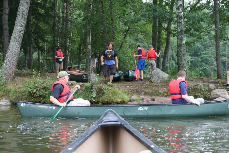 Canoeing on Lake Pitkäjärvi,  Nuuksio National Park