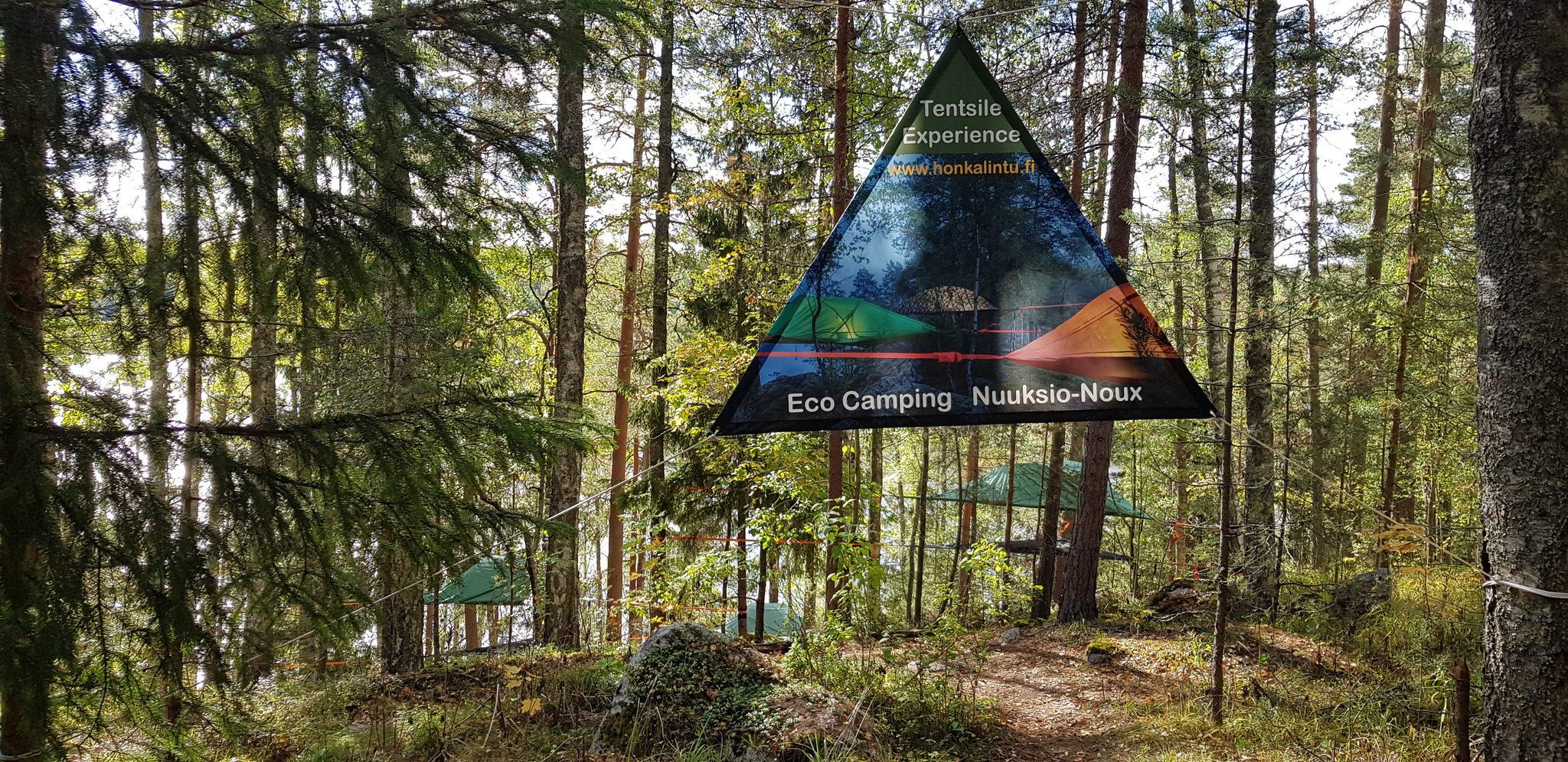 Tentsile Experience EcoCamp Nuuksio  lahjakortti kesälle 2020 kolmelle.