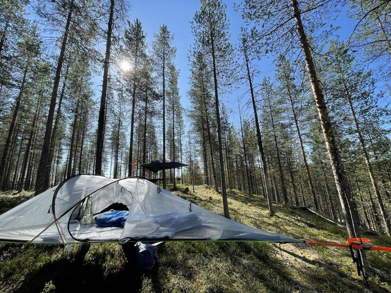 Telttapaikka omalla teltalla