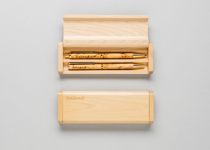 "Double pen casing ""Finland"" (maple)"