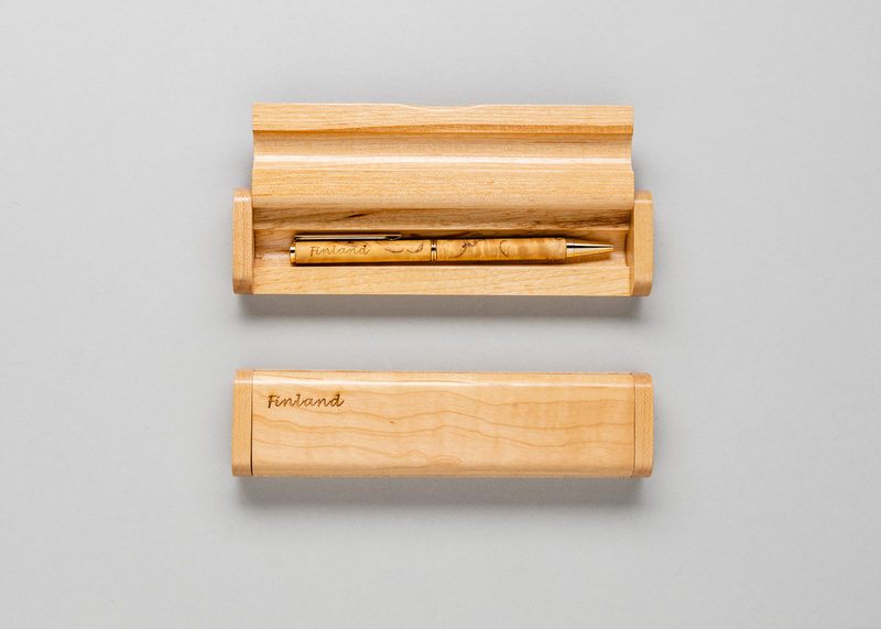 "Single pen casing ""Finland"" (maple)"