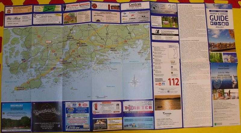 Ilmainen Tammisaaren alueen mainoskartta