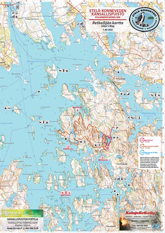 Retkeilijän kartta Etelä-Konnevesi SÄÄNKESTÄVÄ