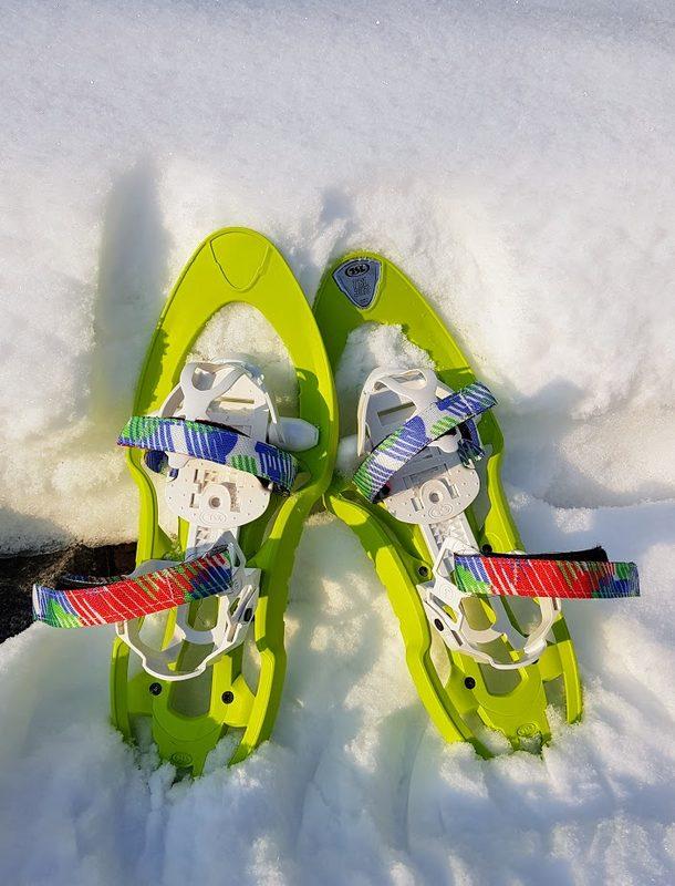 Lasten lumikengät TSL 302 ja lumikenkäilysauvat