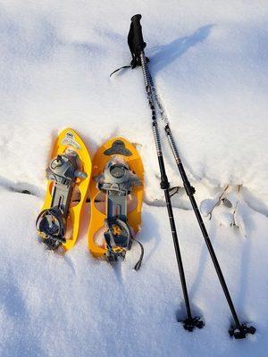 Lumikengät TSL 225 ja lumikenkäilysauvat