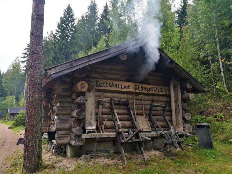 Smoke sauna heating