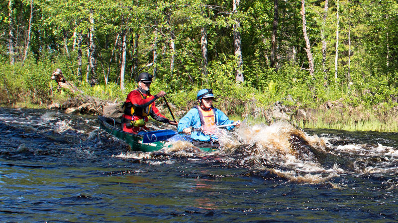 Paddling trips on the Midnight Sun Canoeing route