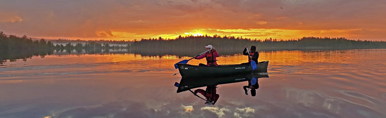Nightless night paddling