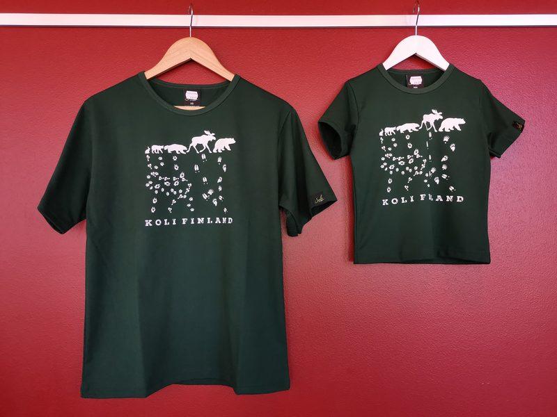 Lasten eläinjälki T-paita