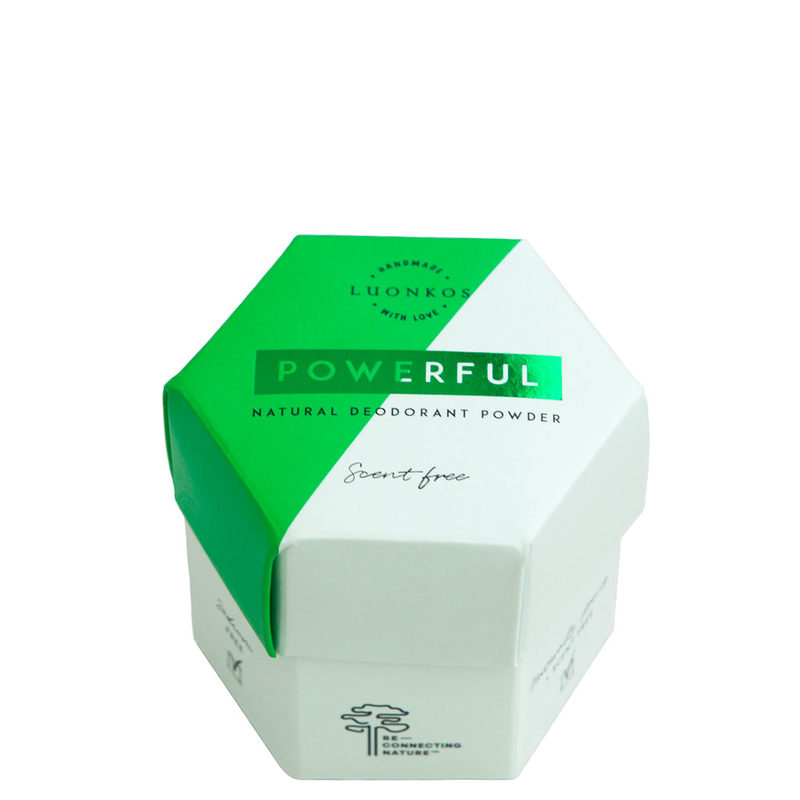 Luonkos jauhedeodorantti Powerful, tuoksuton