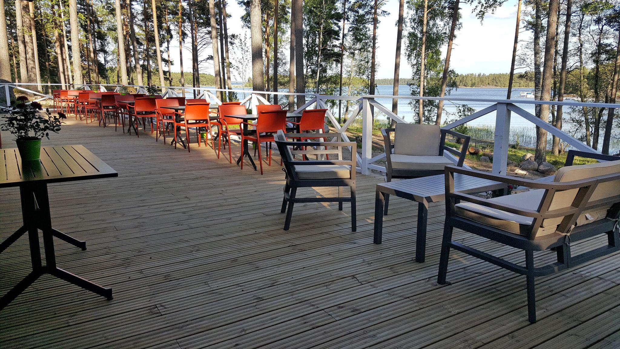 Ravintolan meriterassi Kopparö