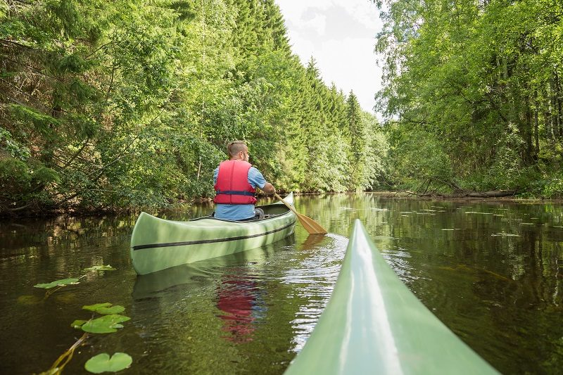 Magical canoe trip at the Jyllinjoki River