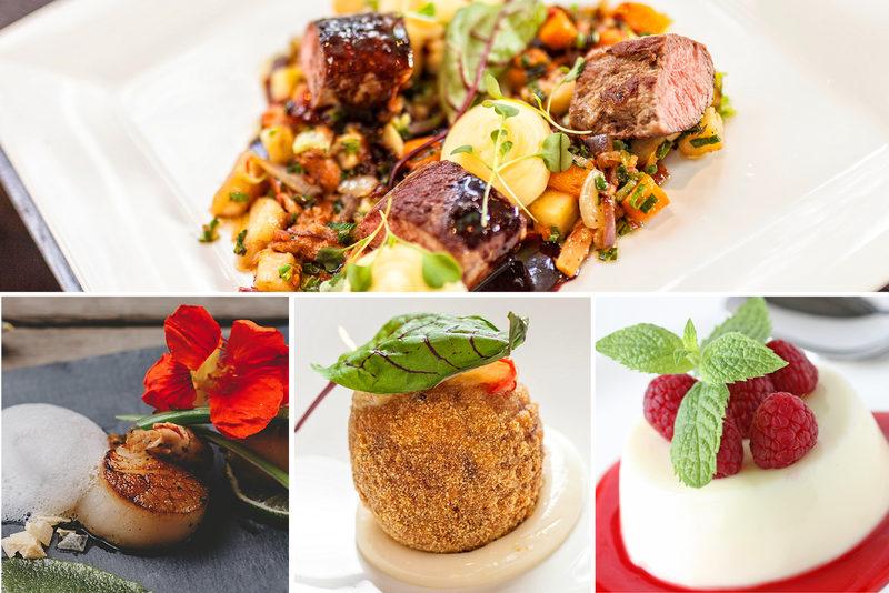 Neljän ruokalajin menu Vaustissa