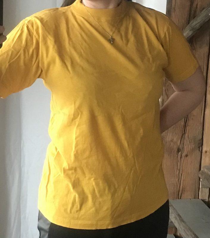 T-paita Paradise Beach, keltainen, koko S