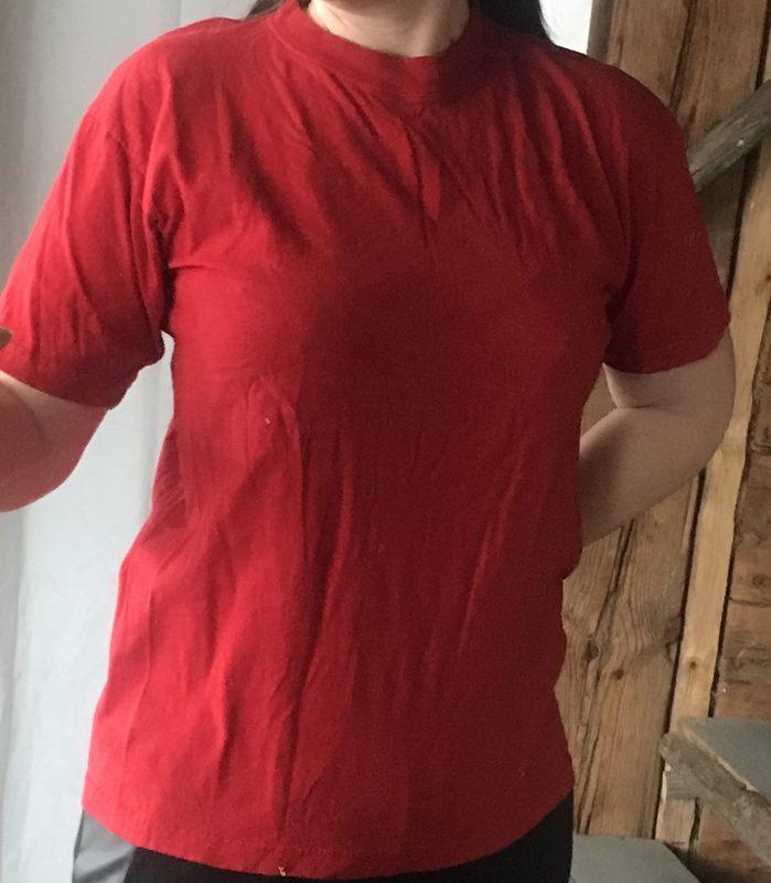 T-paita Paradise Beach, punainen, koko XL