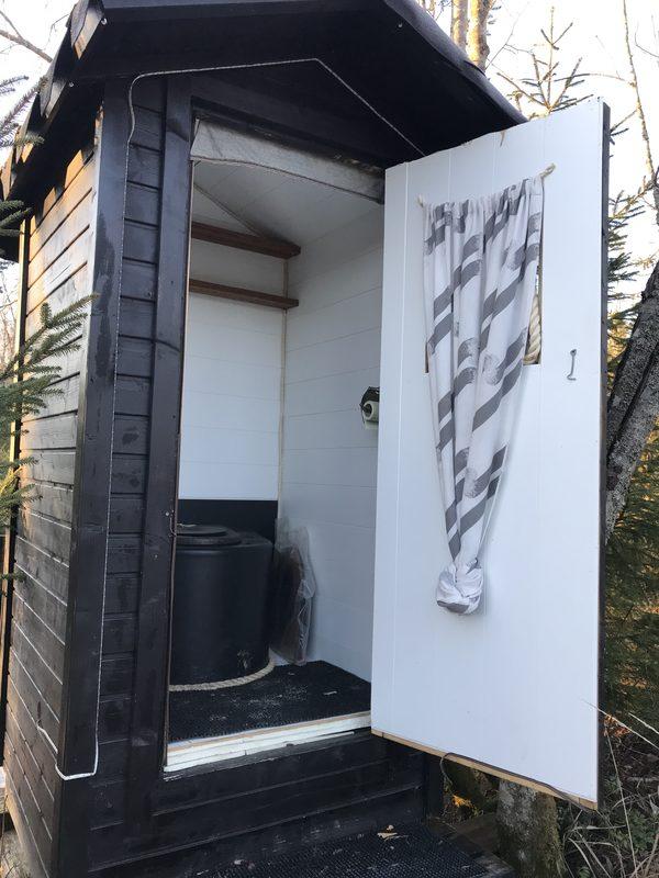 Ulko wc käytössä