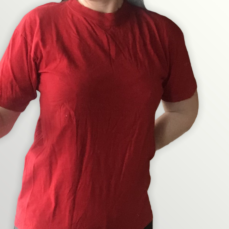 T-paita Paradise Beach, punainen, koko S
