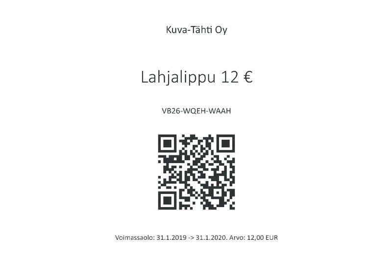 Lahjalippu 12 €