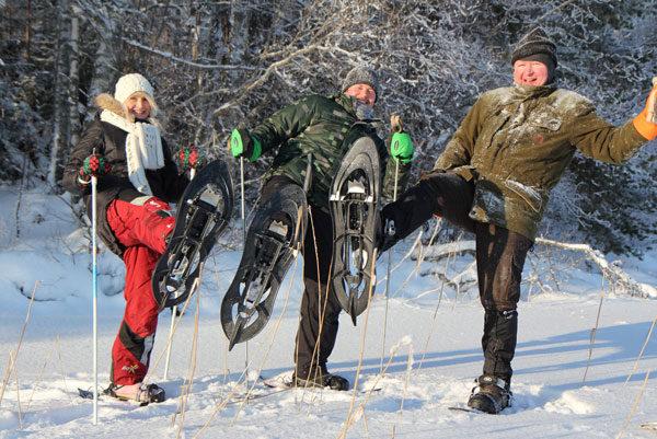 Lumikenkäretki Saimaa Geoparkissa