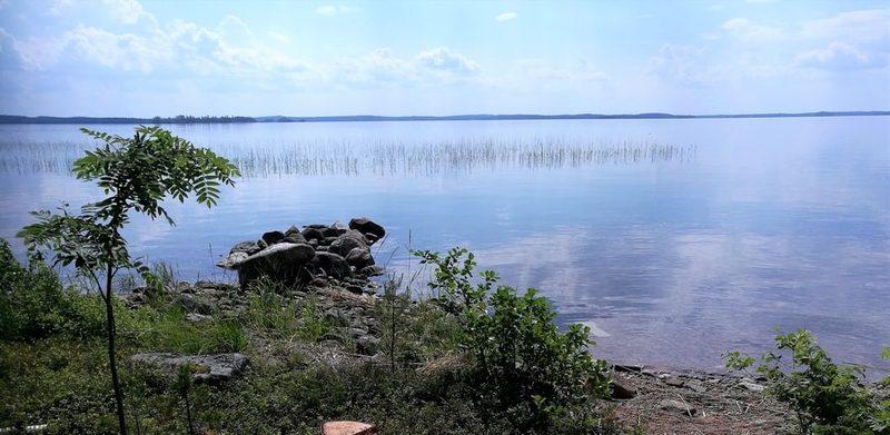 Saunamökiltä järvelle