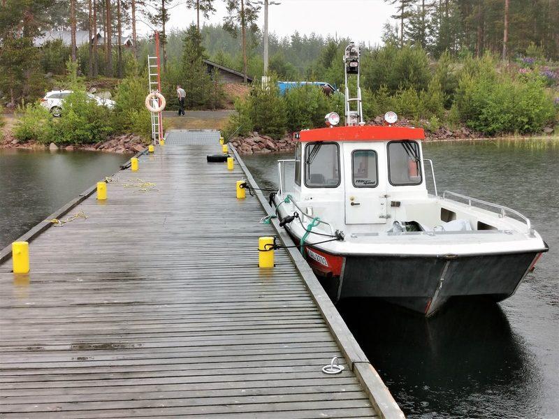 Lähtövalmiina Kesälahden kalasatamassa