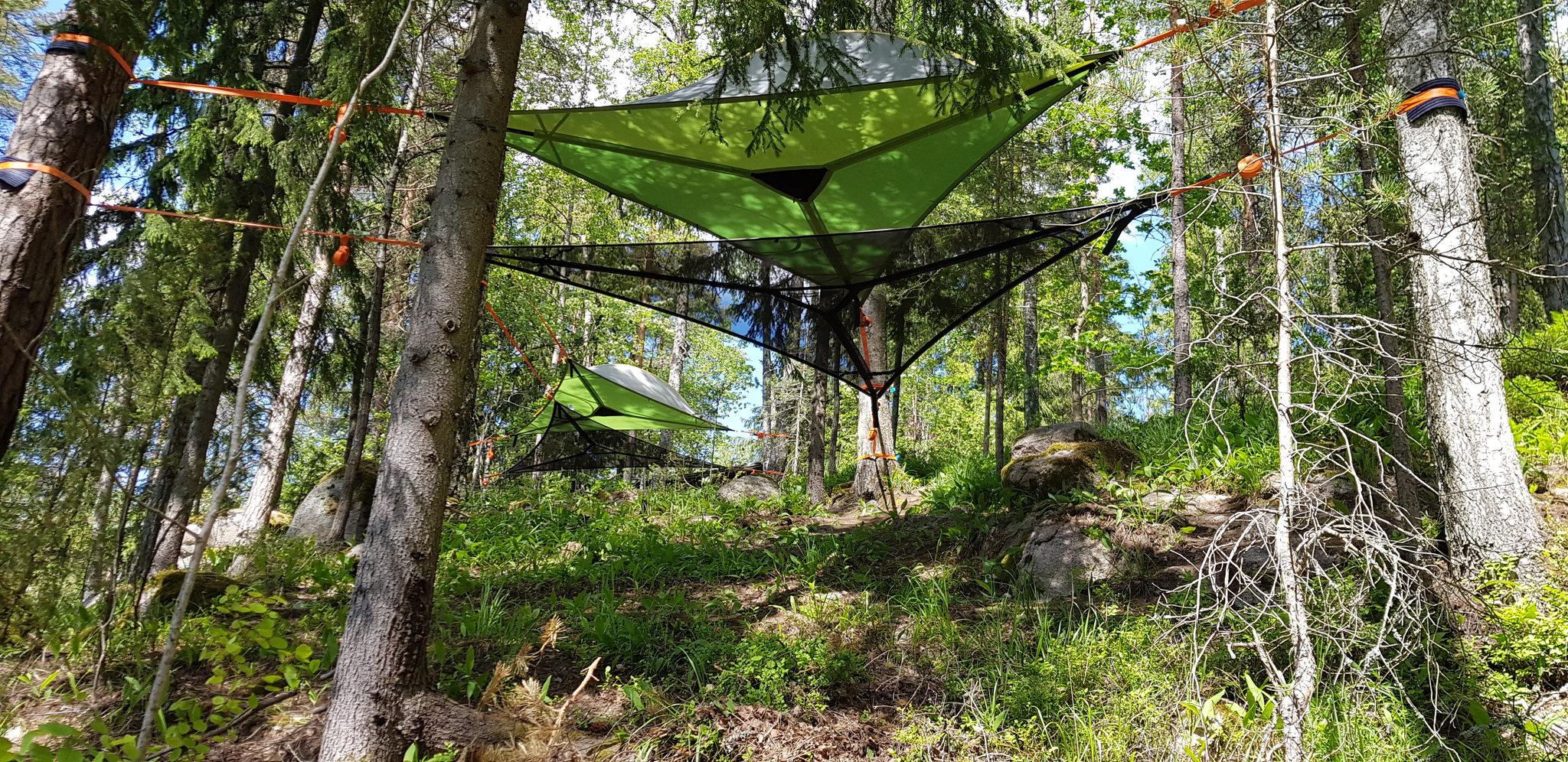 Tentsile majoitusta Nuuksio Espoo